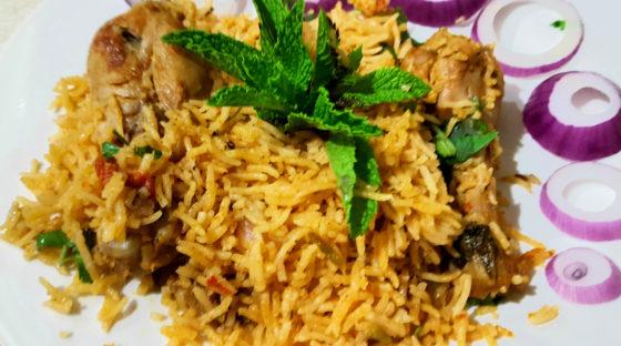 Ambur Style Chicken Biryani Recipe