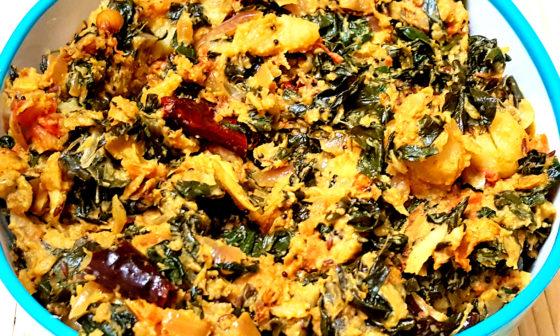 Drumstick Leaves Potato Curry- Moringa Leaf Recipe-Murungai keerai poriyal-Saijan Patta Sabji-Drumstick Leaves poriyal