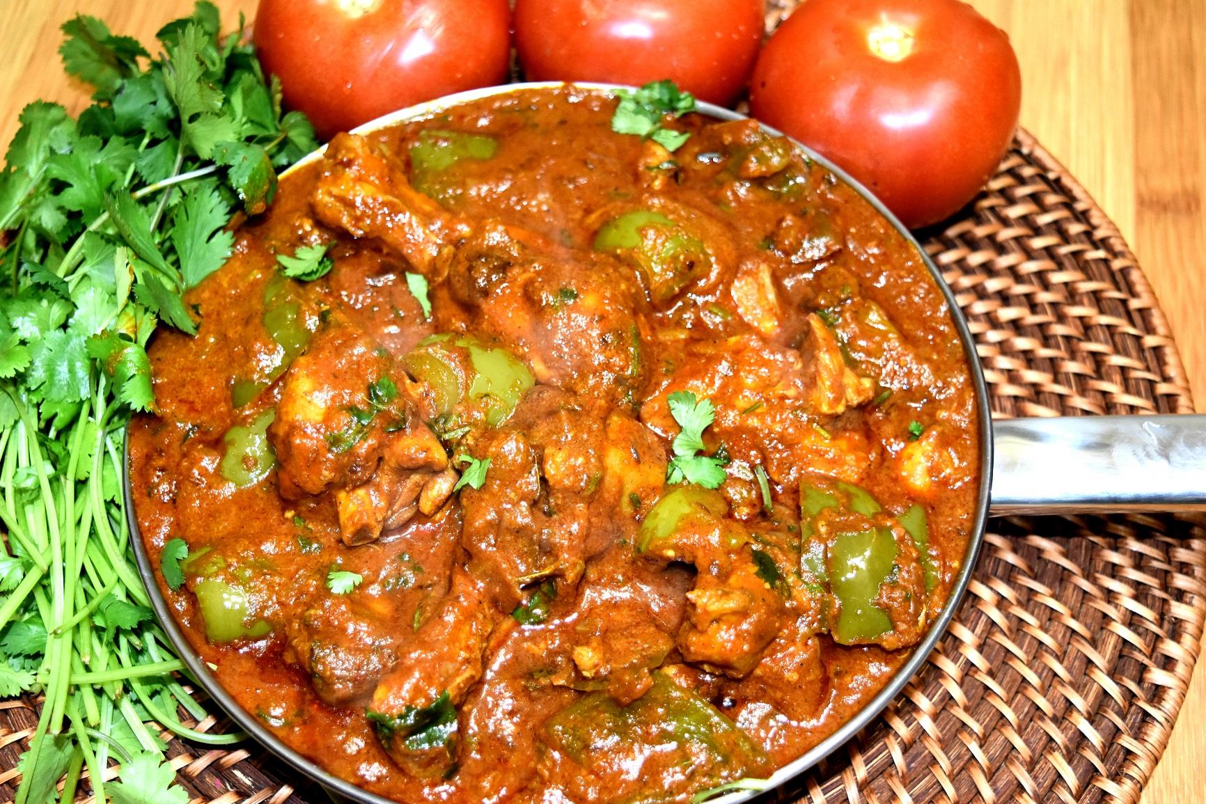 recipe: kadai chicken with capsicum recipe [39]